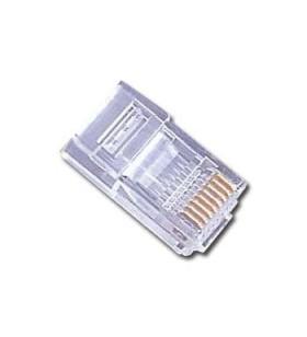 "Modular plug 6u"" gold plated, 100 pcs per bag ""PLUG3UP6/100"""