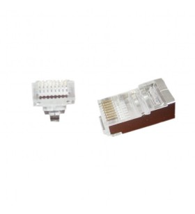 """Universal pass-through modular FTP plug 8P8C, 50 pcs per bag """"LC-PTF-01/50"""""""