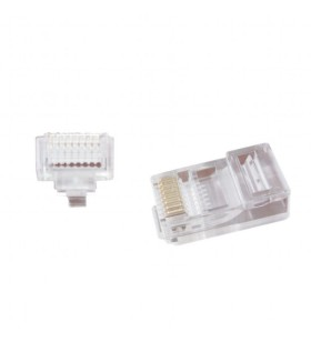 "Universal pass-through modular UTP plug 8P8C, 100 pcs per bag ""LC-PTU-01/100"""