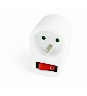 "Switchable plug-in French AC socket, white ""EG-AC1F-01-W"""