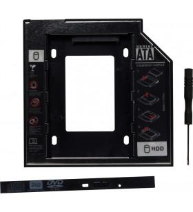 "RACK CADDY SPACER HDD/ SSD pentru CD/DVD Bay, pentru Notebook, NORMAL, 12.7mm, ""SPR-25DVDN"""