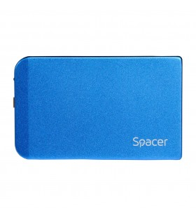"RACK EXTERN SPACER 2.5"" HDD S-ATA to USB 3.0, Aluminiu, Albastru, ""SPR-25611A"""