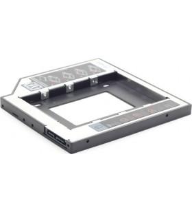 """RACK CADDY GEMBIRD HDD/ SSD pentru CD/DVD Bay, pentru Notebook, Ingust, 9.5mm""""MF-95-01"""""""