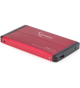"RACK EXTERN GEMBIRD 2.5"" HDD S-ATA to USB 3.0, Aluminiu, red, ""EE2-U3S-2-R"""