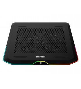 """STAND DEEPCOOL notebook 17"""", iluminare RGB, sita metal, 2 x fan 14cm, 2 x port USB 3.0, black, """"N80 RGB"""""""