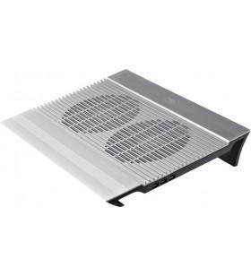 """STAND DEEPCOOL notebook 17"""", sita aluminiu, 2 x fan 14cm, 4 x port USB, silver, """"N8''"""