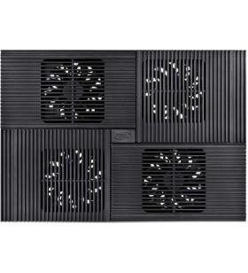 "STAND DEEPCOOL notebook 17"", sita aluminiu, 4 x fan 10cm, 2 x port USB, control fan cu 4 setari, design futurist, black, ""MULT"