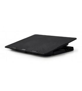 "STAND GEMBIRD notebook 15.6"", sita metal, 2 x fan 12.5cm, inaltime ajustabila pana la 4 grade, black, ''NBS-2F15-02"""