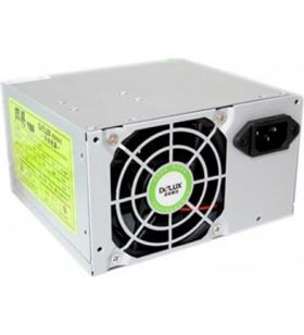 "SURSA DELUX 450W, Fan 8cm, Conector 20+4 pini, 2xSATA, 2xMolex, Switch ON/OFF ""DLP-23MS"""