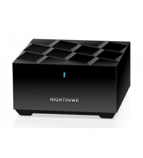 Netgear Nighthawk Mesh WiFi 6 Add-On Satellite router wireless Bandă dublă (2.4 GHz  5 GHz) Gigabit Ethernet Negru