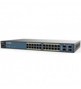 SWITCH PoE EnGenius L2 cu management 24 porturi Gigabit (24 PoE+) + 4 porturi SFP, IEEE 802.3at/af, carcasa metalica, rackabil.