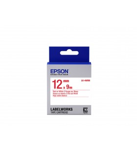 Epson Label Cartridge Standard LK-4WRN Red White 12mm (9m)