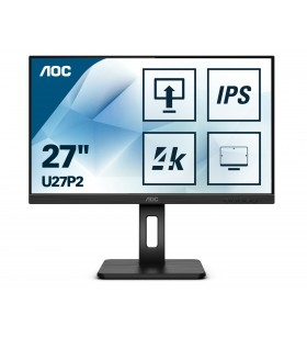 "AOC U27P2 LED display 68,6 cm (27"") 3840 x 2160 Pixel 4K Ultra HD Negru"