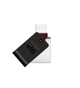 Silicon Power Mobile X31 memorii flash USB 32 Giga Bites USB Type-A   Micro-USB 3.2 Gen 1 (3.1 Gen 1) Negru, Argint