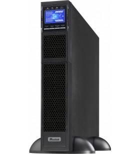 UPS MUSTEK Online cu Sinusoida Pura, rack,10000VA/ 10000W, AVR, iesire Terminal Block, display LCD, 16 x baterie 12V/9Ah, Backup