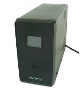 "UPS GEMBIRD 1200VA w. AVR, diplay LCD, interfata USB, black, ""EG-UPS-033"" (include timbru verde 5 lei)"