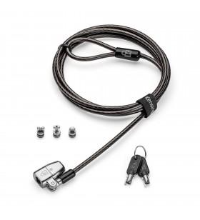 Kensington ClickSafe 2.0 Universal Keyed Laptop Lock cabluri cu sistem de blocare Negru 1,8 m