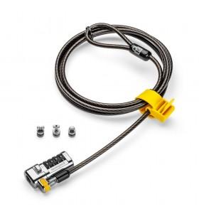 Kensington ClickSafe Universal Combination Laptop Lock cabluri cu sistem de blocare Negru, Metalic 1,8 m