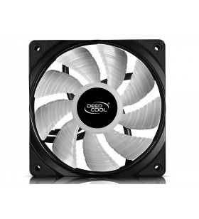 "VENTILATOR DEEPCOOL PC 120x120x25 mm,  white LED, PWM, Fluid Dynamic Bearing, MTBF 100.000 ore, pale dual-layer detasabile, ""TF"