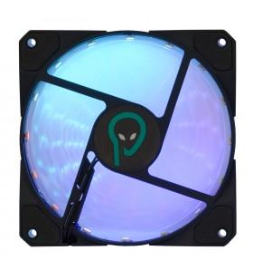 "VENTILATOR SPACER PC 120x120x26 mm, RGB light, necesita fan hub ""SP-FC-RGB"", Fluid Bearing, 53CFM, conector 6-pin ""SP-SF12-RG"