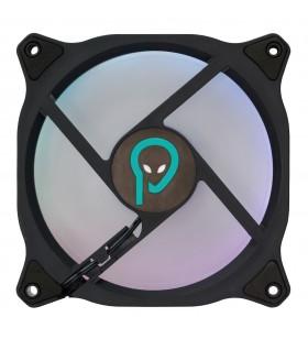"VENTILATOR SPACER PC 120x120x26 mm, RGB ring of light, necesita fan hub ""SP-FC-RGB"", Fluid Bearing, 53CFM, conector 6-pin ""SP"