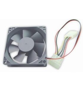 """80 mm PC case fan, sleeve bearing, 4 pin power connector """"FANCASE-4"""""""