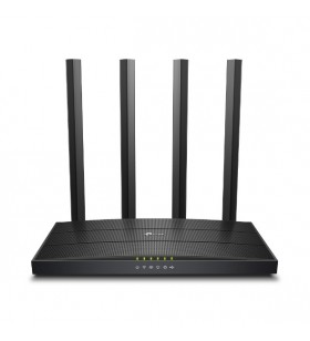 TP-LINK Archer C6U router wireless Bandă dublă (2.4 GHz  5 GHz) Gigabit Ethernet Negru