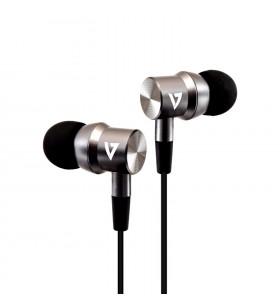 V7 HA111-3EB cască audio & cască cu microfon Căști În ureche Argint