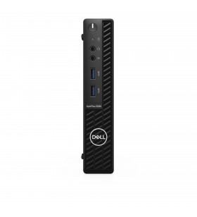 DELL OptiPlex 3080 10th gen Intel® Core™ i3 i3-10100T 4 Giga Bites DDR4-SDRAM 128 Giga Bites SSD MFF Negru Mini PC Windows 10