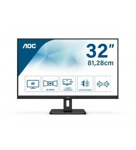 "AOC Essential-line U32E2N LED display 80 cm (31.5"") 3840 x 2160 Pixel 4K Ultra HD Negru"