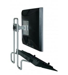 """R-Go Tools RGOSC050+ suporturi pentru birou pentru monitoarele LCD 68,6 cm (27"""") Argint"""