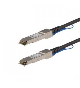 StarTech.com QFXQSFPDAC1M cabluri de rețea 1 m Negru