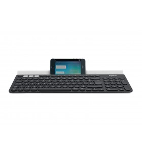 Logitech K780 tastaturi RF Wireless + Bluetooth QWERTZ Germană Gri, Alb