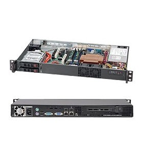 Supermicro SuperChassis 510T-203B Cabinet metalic Negru 200 W