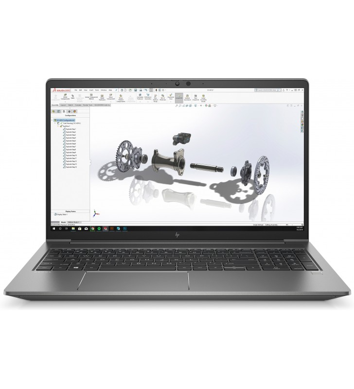 "HP ZBook G7 Stație de lucru mobilă Argint 39,6 cm (15.6"") 3840 x 2160 Pixel 10th gen Intel® Core™ i7 16 Giga Bites DDR4-SDRAM"