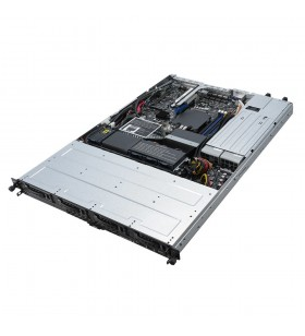 ASUS RS300-E10-RS4 Intel C242 LGA 1150 (Mufă H4) Cabinet metalic (1U) Negru, Metalic