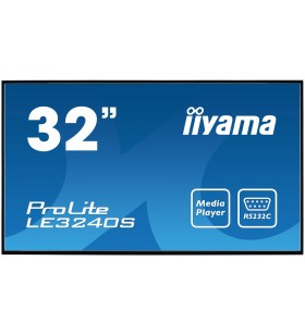 "iiyama LE3240S-B2 Afișaj Semne Panou informare digital de perete 80 cm (31.5"") VA Full HD Negru"