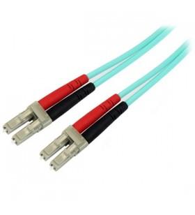 StarTech.com 450FBLCLC5 cabluri din fibră optică 5 m LC OM4 Blue,Aqua colour