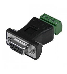 StarTech.com RS422 RS485 Serial DB9 - Terminal Block Adapter Negru