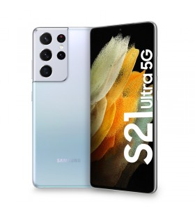 "Samsung Galaxy S21 Ultra 5G SM-G998B 17,3 cm (6.8"") Dual SIM Android 11 USB tip-C 16 Giga Bites 512 Giga Bites 5000 mAh Argint"
