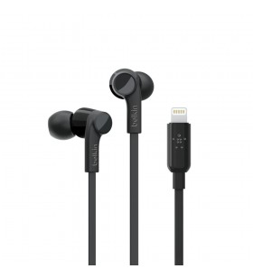 Belkin ROCKSTAR Căști În ureche USB tip-C Negru