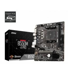 MSI B550M-A PRO plăci de bază AMD B550 Mufă AM4 micro-ATX
