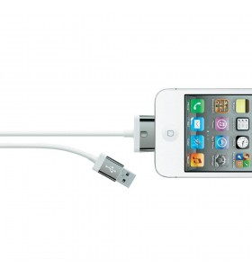 Belkin F8J041CW2M-WHT cabluri pentru telefoanele mobile Alb 2 m USB A Apple 30-pin