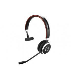 Jabra Evolve 65 UC Mono Căști Bandă de fixare pe cap Bluetooth Negru