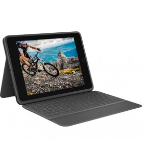 Logitech Rugged Folio Grafit USB tip-C QWERTY Engleză Regatul Unit