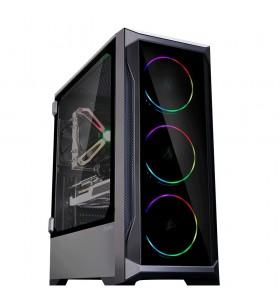 Zalman Z8 TG ATX Mid Tower PC Case, ARGB fan x3, T G Midi Tower Negru