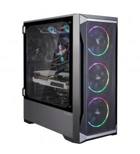 Zalman Z8 MS ATX Mid Tower PC Case, ARGB fan x3, Mesh Midi Tower Negru