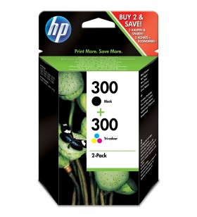 HP 300 cartușe cu cerneală 2 buc. Original Negru, Cyan, Magenta, Galben