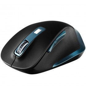 Canyon 2.4Ghz Wireless mouse, with 6 buttons,DPI 800/1200/1600/2000/2400,Battery:AAA*2 pcs , Black-blue 119.6*81.1*43.3mm86.8g
