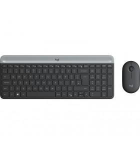 Logitech MK470 Slim Wireless Combo tastaturi RF fără fir QWERTY Daneză, Finlandeză, Norvegiană, Suedez Grafit